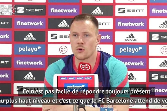 """Barcelone - ter Stegen : """"Je suis fier de la progression de nos jeunes joueurs"""""""