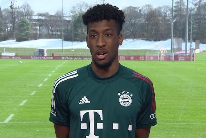 Bayern Munich players react to the Champions League draw