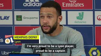 Preview image for Depay 'happy and proud' to be a Lyon player despite Barca interest