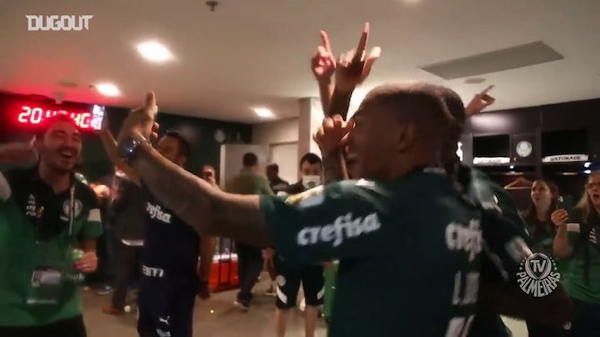 Preview image for Behind the scenes: Palmeiras players celebrate their Libertadores title