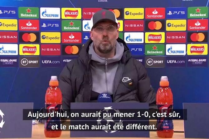 """Quarts - Klopp : """"Une bonne performance sans marquer était insuffisante"""""""