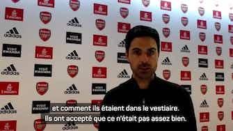 """Image d'aperçu pour Arsenal - Arteta : """"La jeunesse n'est pas une excuse"""""""