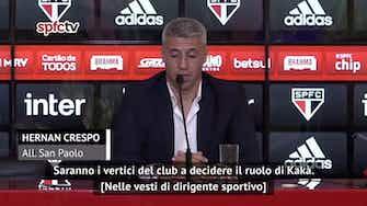 """Anteprima immagine per Crespo: """"Kakà un amico. felice di trovarlo al San Paolo"""""""