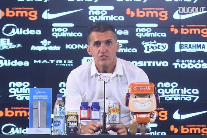 Mancini comenta sobre evolução do Corinthians com novo sistema tático