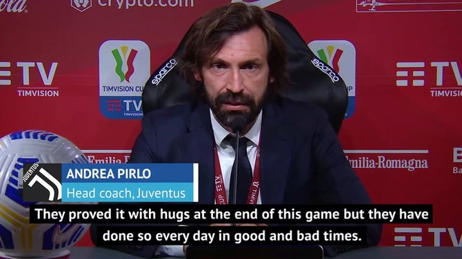 Pirlo insists Juve players are on his side after Coppa Italia success