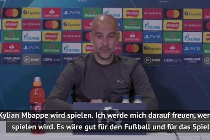 """Guardiola vor PSG: """"Mbappe wird spielen"""""""