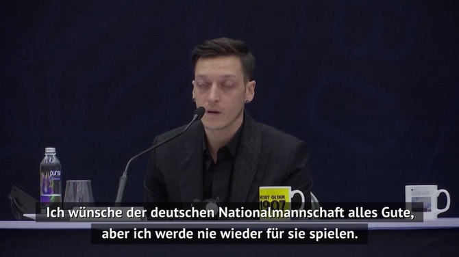 """Vorschaubild für Özil: """"Werde nie wieder für Deutschland spielen"""""""