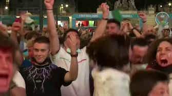 Anteprima immagine per Immobile segna, esplode la festa a Piazza del Popolo
