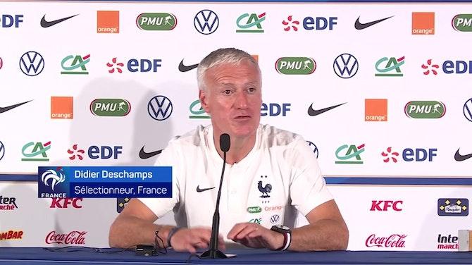 """Bleus - Deschamps : """"Un attaquant est là pour marquer, faire marquer"""""""