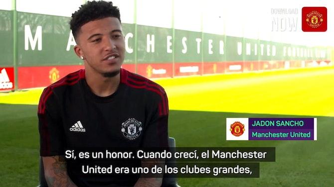 """Imagen de vista previa para Sancho: """"Estoy decidido a ganar títulos con el Manchester United"""""""