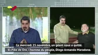 Image d'aperçu pour Maradona - L'hommage du président vénézuélien Maduro