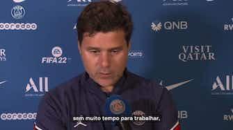 Imagem de visualização para Pochettino exalta entrega dos atletas do PSG em virada sobre o Lyon