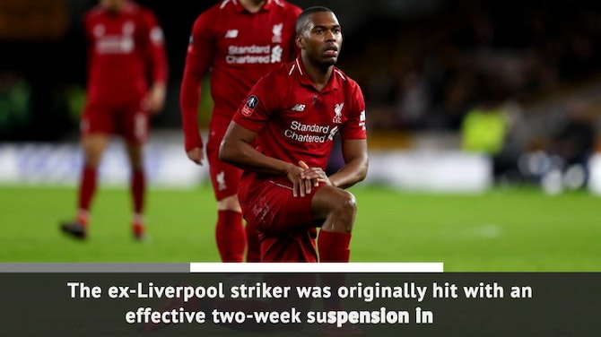 Preview image for Breaking News - Sturridge banned for four months