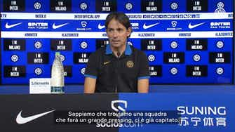 Anteprima immagine per Inzaghi prima della partita contro la Lazio