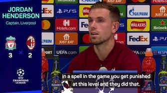 Preview image for Match-winner Henderson delighted with Reds reaction versus Milan