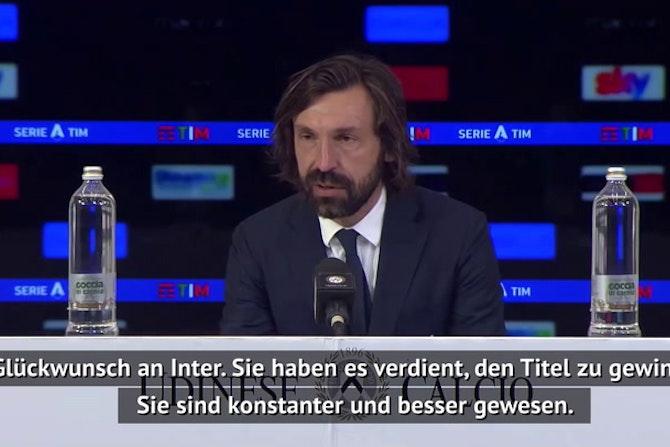 Nach neun Meister-Jahren: Pirlo gratuliert Inter