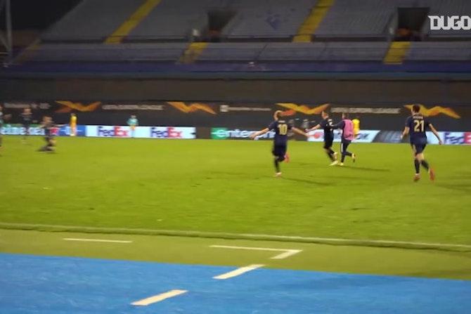 Les célébrations du Dinamo Zabreb contre Tottenham