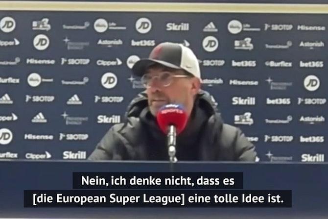 Super League: Reaktionen von Flick, Klopp und Co.