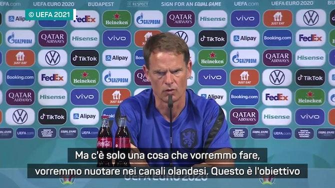 """Anteprima immagine per De Boer: """"L'obiettivo è vincere l'Europeo"""""""