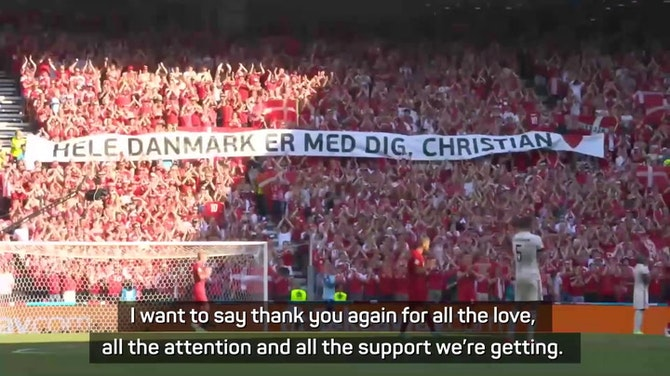 Preview image for Hjulmand emotional after 'amazing tribute' to Eriksen