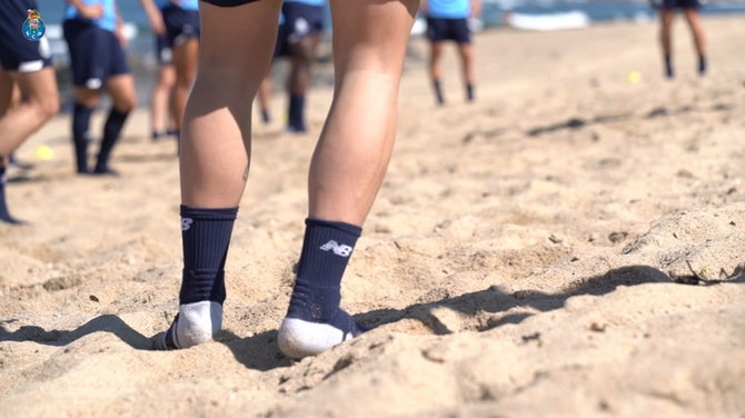 Preview image for FC Porto stars work on the beach