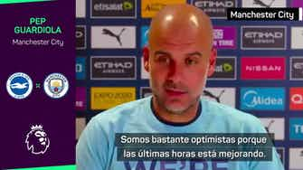 Imagen de vista previa para Guardiola expresa su apoyo al aficionado belga agredido