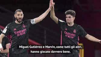 """Anteprima immagine per Marcelo out, Zidane: """"Non era al meglio, che bravo Miguel Gutierrez"""""""