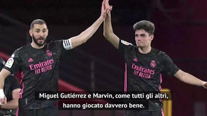 """Marcelo out, Zidane: """"Non era al meglio, che bravo Miguel Gutierrez"""""""