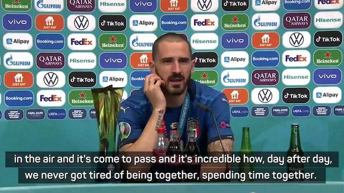 Preview image for Bonucci hails unique Italian team spirit after Euro 2020 triumph