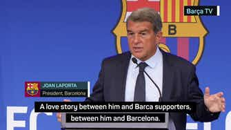 Preview image for Laporta admits keeping Messi would have put Barca future at risk