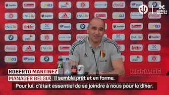 """Image d'aperçu pour Belgique - Martinez : """"Je ne compte pas sur De Bruyne pour le premier match, mais..."""""""