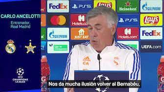 """Imagen de vista previa para Ancelotti: """"Cuidado, el Sheriff es un equipo que no se conoce mucho"""""""