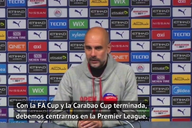"""Guardiola: """"Estaremos preparados para la final de la Champions, ahora nos centramos en la Premier"""""""