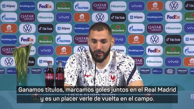 """Imagen de vista previa para Benzema """"Siempre es bueno ver a Cristiano, fueron nueve años juntos"""""""