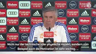 """Vorschaubild für Ancelotti zu Clasico: """"Gibt keine Favoriten"""""""
