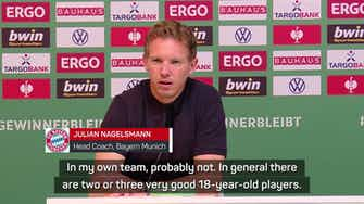 Preview image for Nagelsmann hails Musiala as one of world football's best teenagers