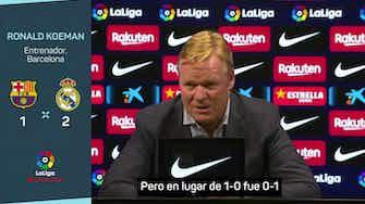 """Imagen de vista previa para Koeman: """"Demostramos que no somos inferiores al Madrid"""""""