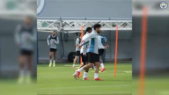 Preview image for Kayky's first training session at Manchester City