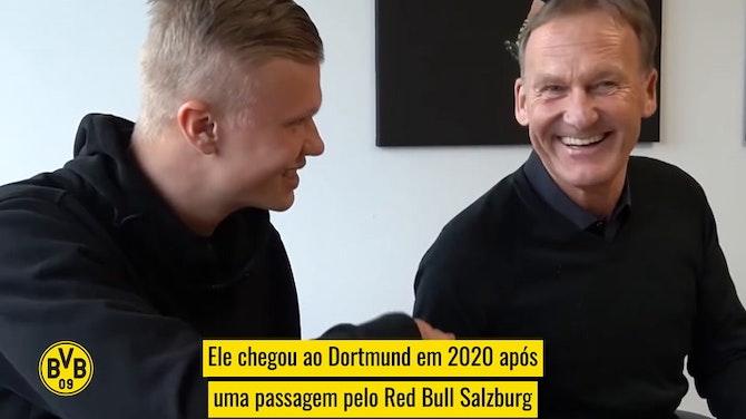 Como Haaland se tornou uma estrela do futebol mundial no Borussia Dortmund
