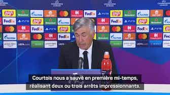 Image d'aperçu pour Gr. D - Ancelotti et Inzaghi font l'éloge de Courtois