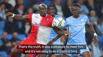Preview image for 'City faced one of the legends of English football' - Pep on Akinfenwa