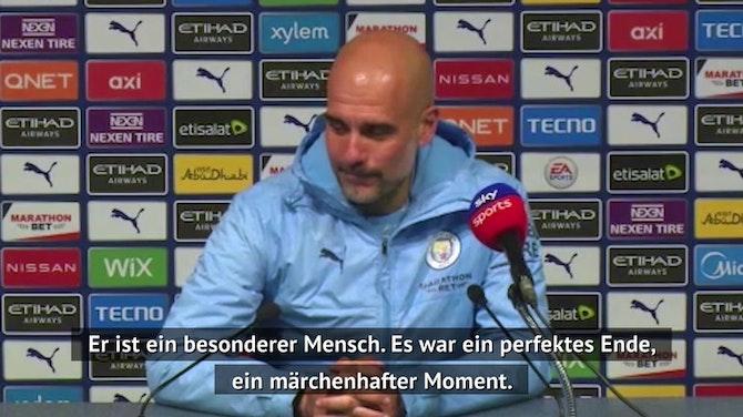 """Guardiola über Aguero: """"Ein märchenhafter Moment"""""""