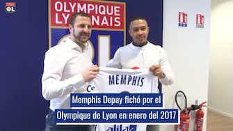 Imagen de vista previa para La trayectoria de Memphis Depay en el Olympique de Lyon