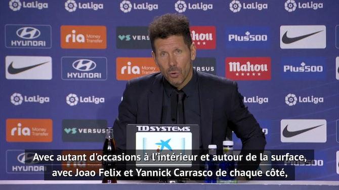 """Image d'aperçu pour 37e j. - Simeone : """"Je savais que ce n'était pas le moment de remplacer Luis Suarez"""""""
