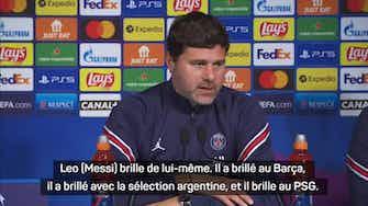 """Image d'aperçu pour Groupe A - Pochettino : """"Messi est heureux à Paris"""""""