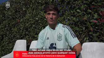 """Imagem de visualização para Gavi fala sobre ser o mais jovem a ter atuado pela Espanha: """"É um orgulho"""""""