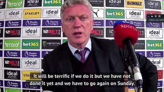 Preview image for 'We aren't there yet' - Moyes on West Ham's quest for the Europa League