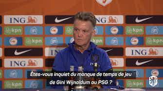 """Image d'aperçu pour Pays-Bas - Van Gaal """"inquiet"""" du temps de jeu de Wijnaldum"""
