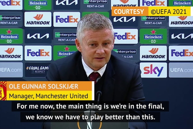 Solskjaer credits deadly Cavani for firing Man United to Europa League final