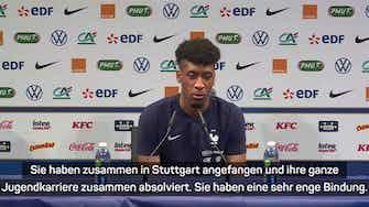 """Vorschaubild für Coman lobt Flick: """"Unglaublich wichtig für DFB"""""""